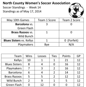Microsoft Word - Week 14 NCWSA Soccer Standings.docx